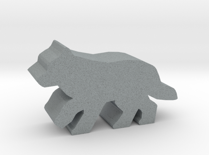Game Piece, Wolf, running 3d printed