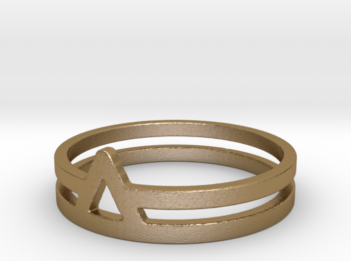 Triangle Double Ring 3d printed