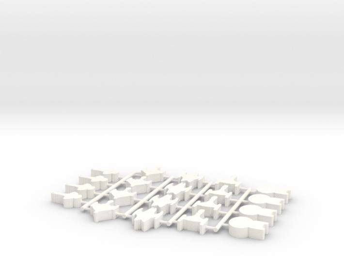 Game Piece, Trekking Ships v2, 25mm 20-piece set 3d printed