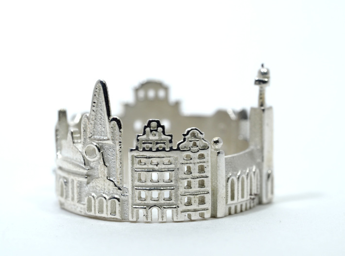Stockholm Cityscape - Skyline Ring 3d printed