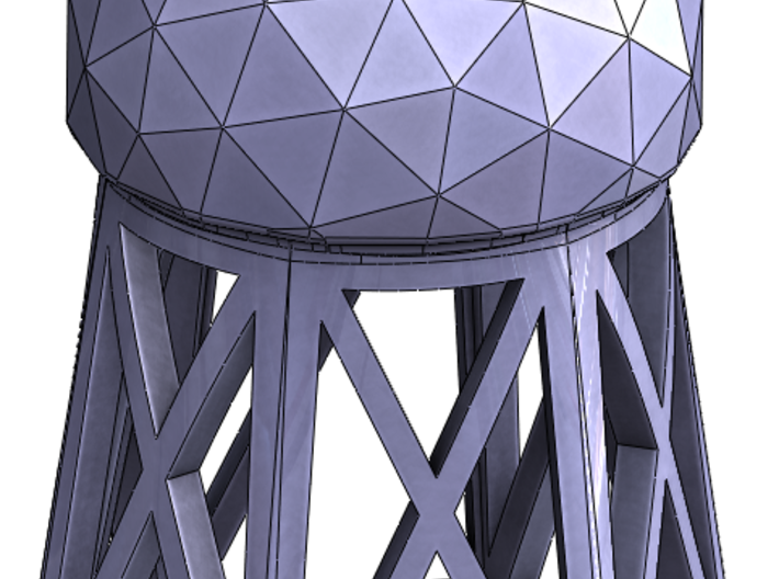 Radar Dome Tower 3d printed