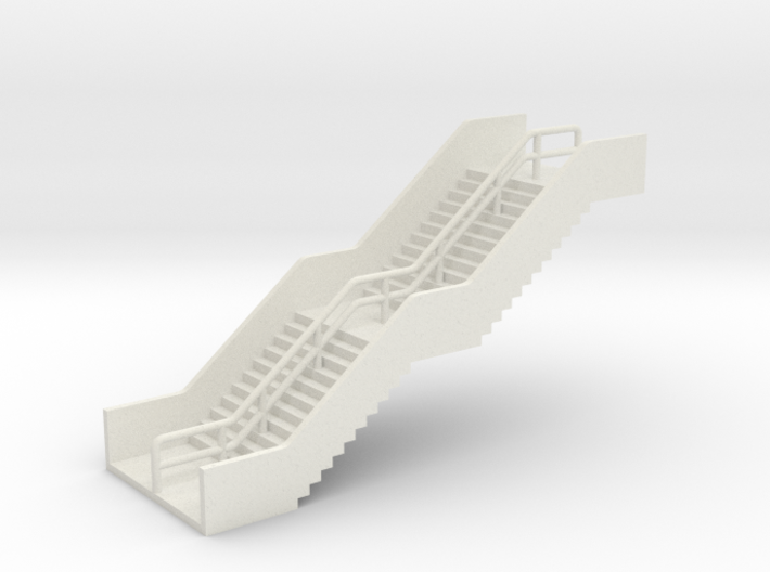 N Scale Station Stairs H30mm 3d printed