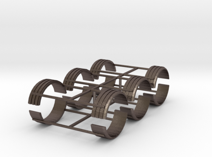 1/87th Single TIre Fenders set of six 3d printed