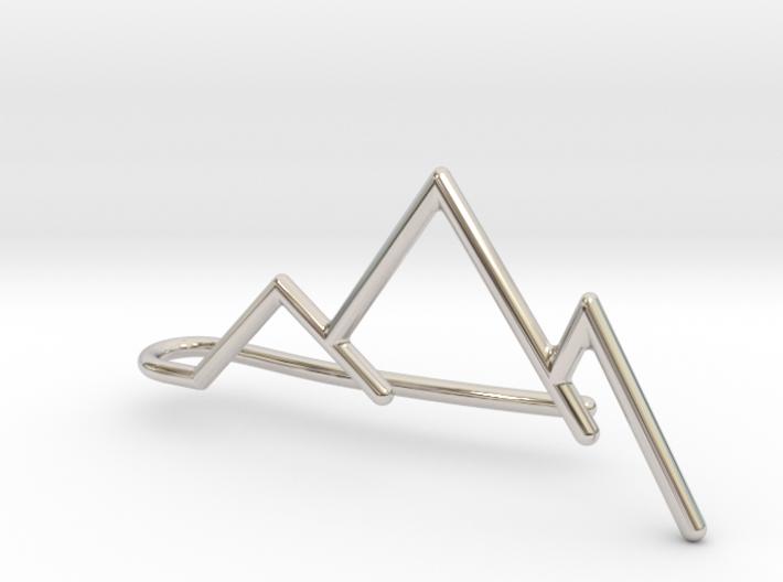 Mountain tie bar 3d printed