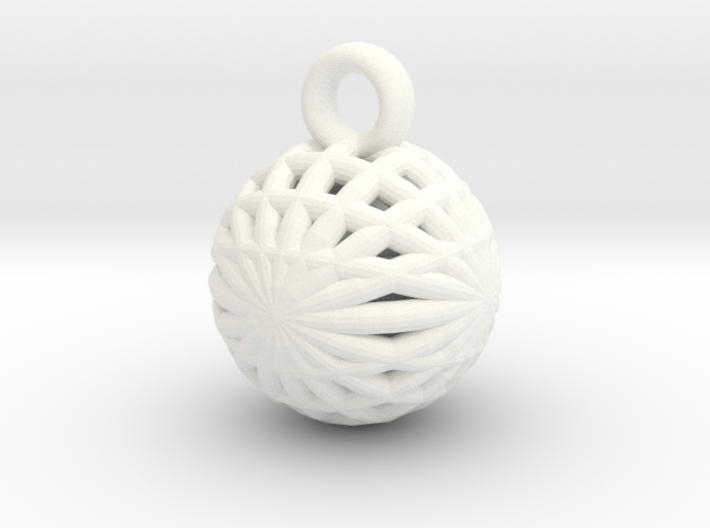 Grid Ball keychain 3d printed