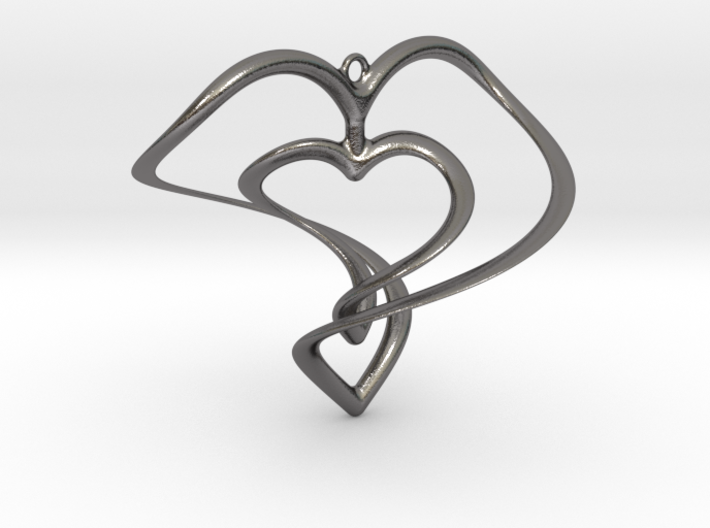 Hearts Necklace / Pendant-01 3d printed