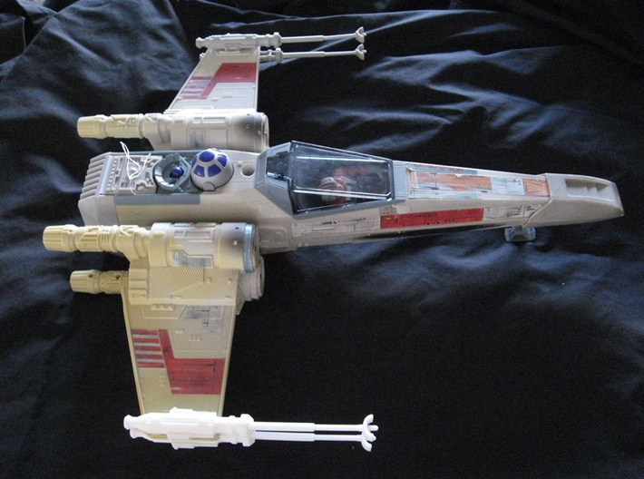 Star Wars POTF X-Wing Laser Cannon 3d printed