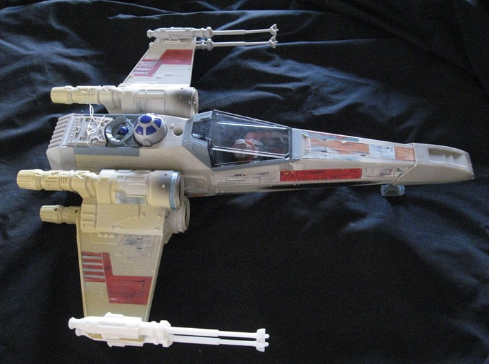 Star Wars POTF X-Wing Laser Cannon Rot. Suppressor 3d printed