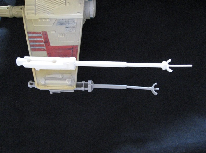 Star Wars POTF X-Wing Laser Cannon - Long 3d printed