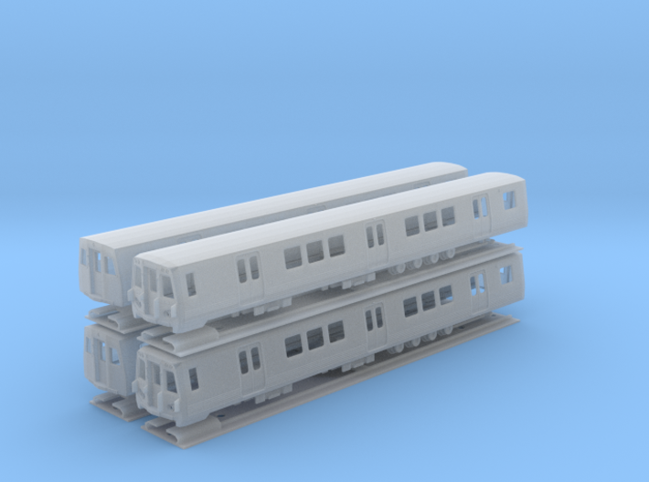 N Scale Washington DC Metro 7000 (4) 3d printed