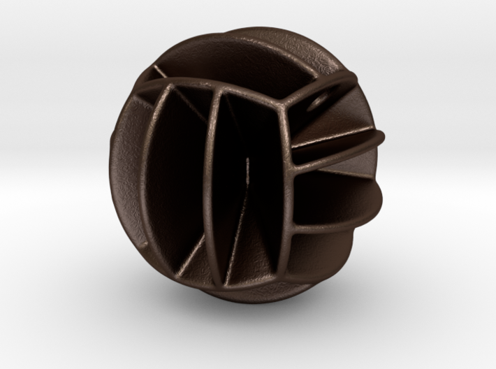 DRAW pendant - volleyball style 1 3d printed