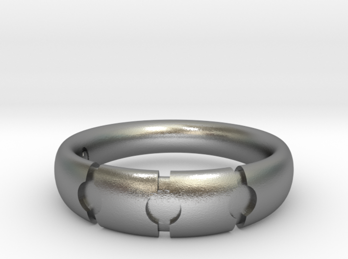 Enigmatic ring_Size 9 3d printed