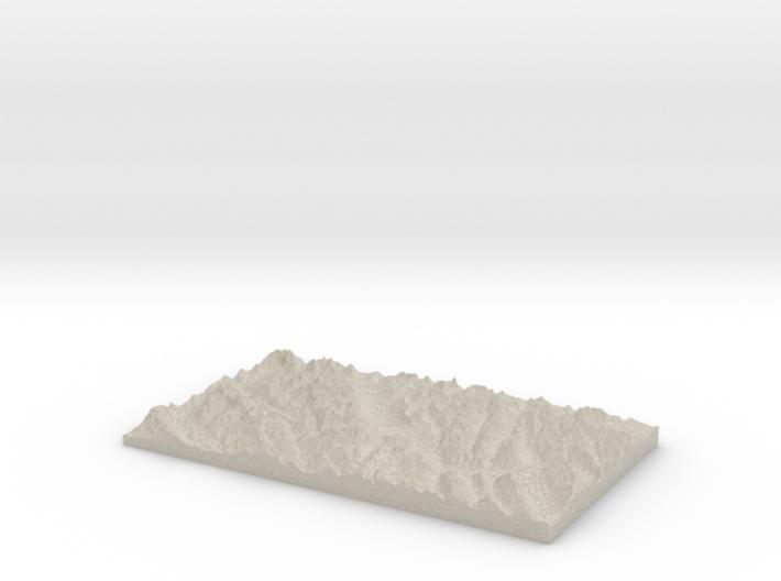 Model of Altrude Creek 3d printed