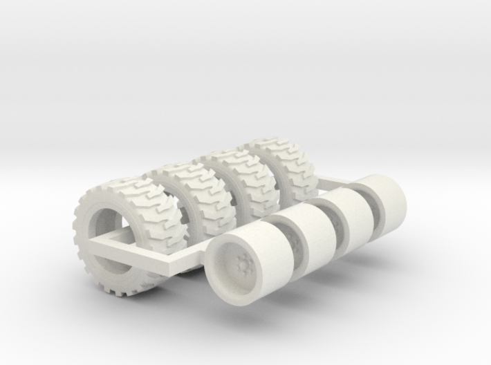 1/64 33x15.5x16.5 Skid Steer Tire And Wheels 3d printed