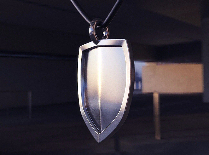 Shield Pendant 3d printed