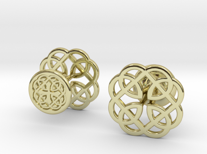 CELTIC KNOT CUFFLINKS 121415 3d printed
