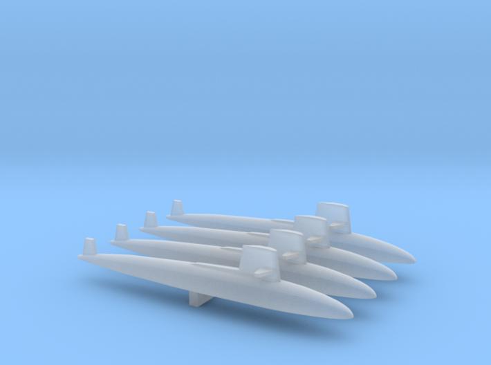 Skipjack class SSN x 4, 1/1800 3d printed