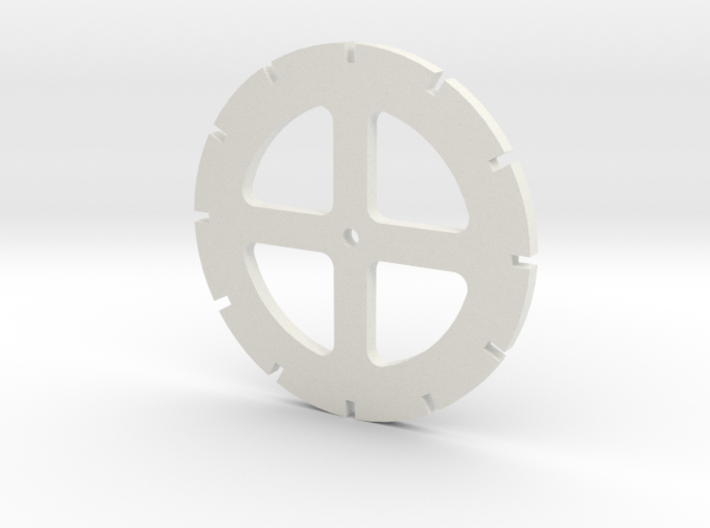 3 Inch disc template 3d printed