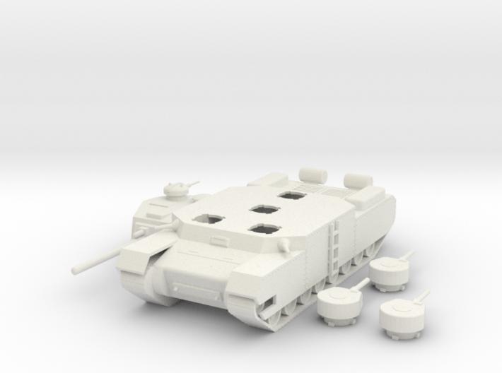 Type 100 O-I Super Heavy Tank 1/100th 3d printed