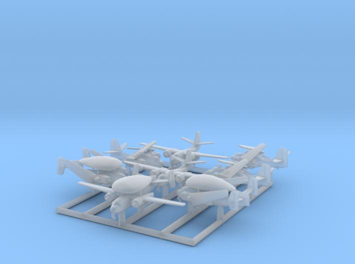 1/700 C-1, E-1 & S-2 w/gear x8 (FUD) 3d printed