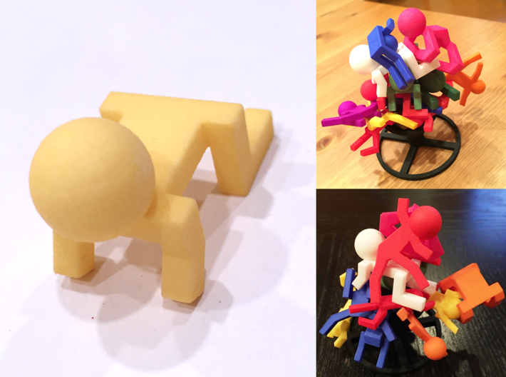 Board Game 'Tsumi Yoga' Block#8 3d printed