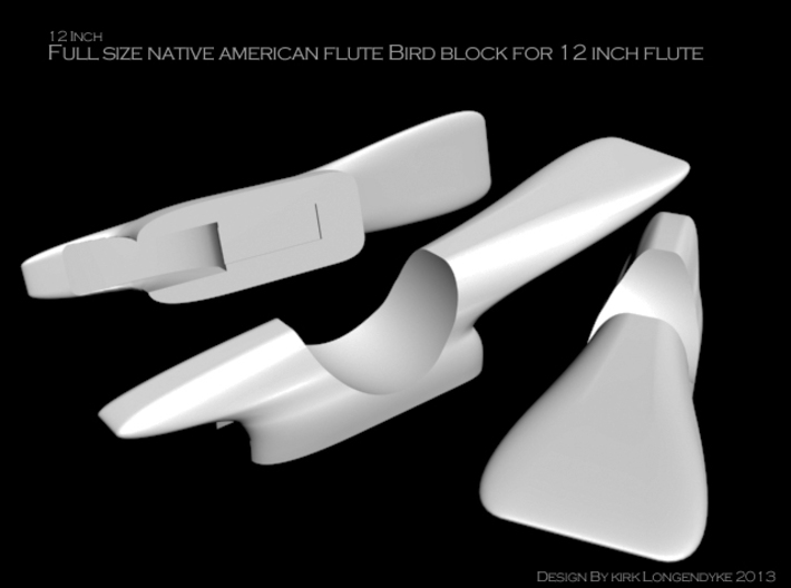 Native American Flute - 12 Inch Bird Block 3d printed 12 inch bird block