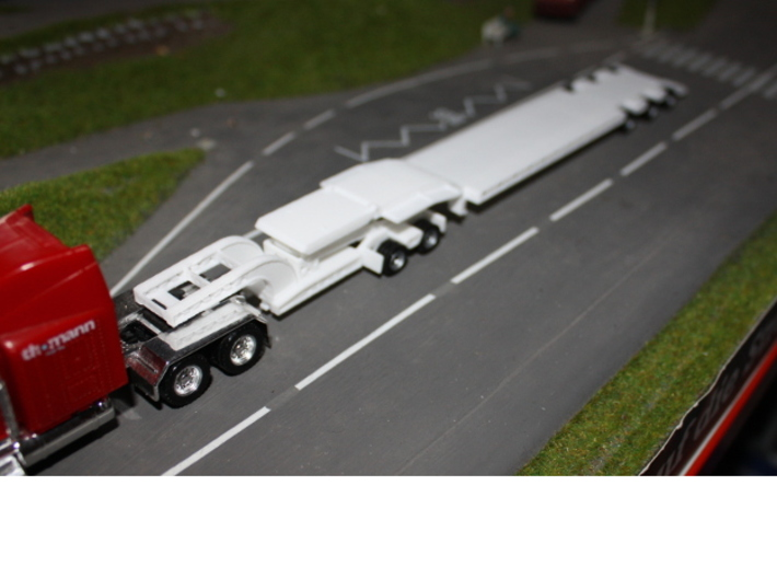 000037 ( 2 axle Dolly ) Heavy Trailer HO 1:87 3d printed