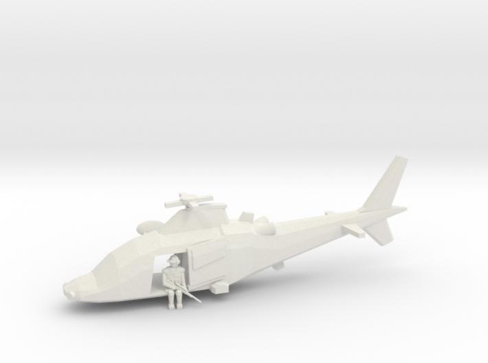 10mm (1/144) Agusta-Westland A109LUH (doors Open, 3d printed