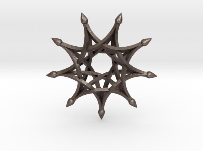 9 Sharp Ribs - 4.5cm 3d printed