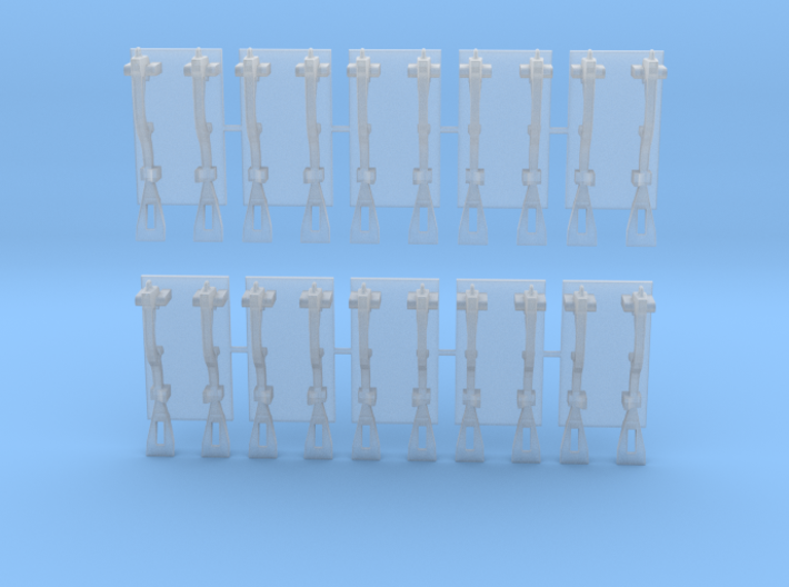 1/18 scale Spanner Wrench Set 3d printed