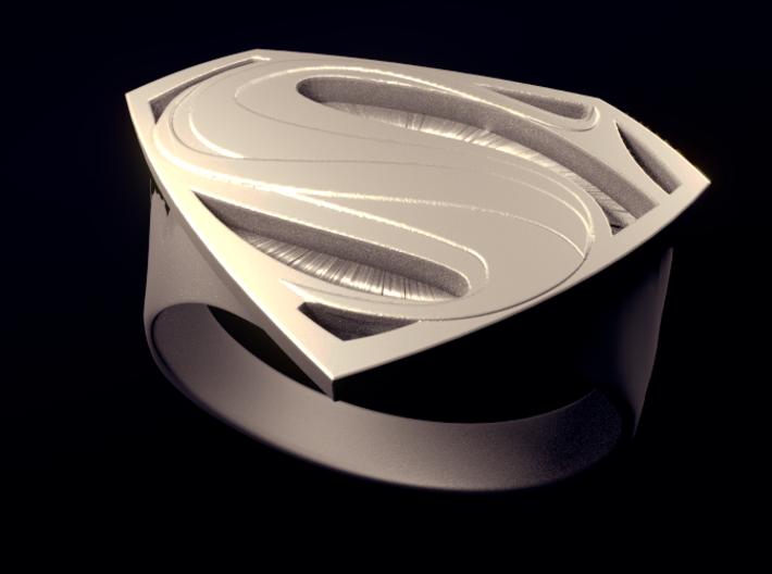Man Of Steel - Ring 3d printed Rendered View