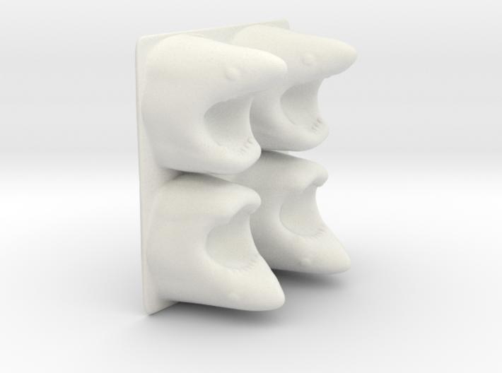 Shark Ice Tray 3d printed