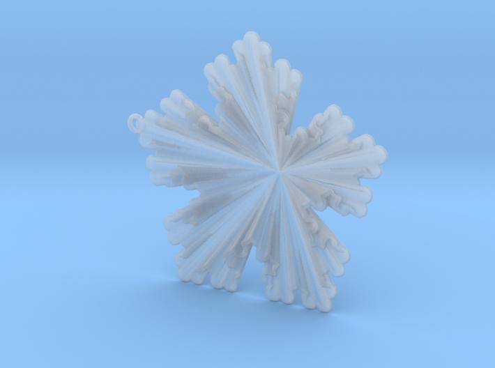 Golden Koch Snowflake Ornament 3d printed