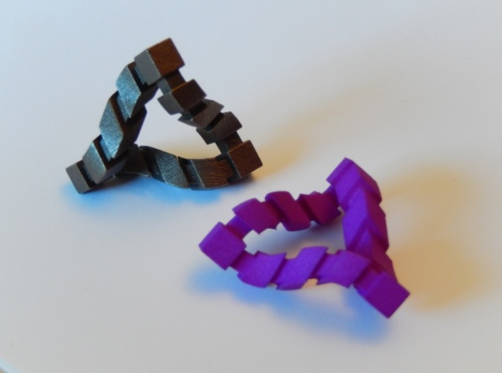 Impossible Triangle, Cubed 3d printed The actual shapes