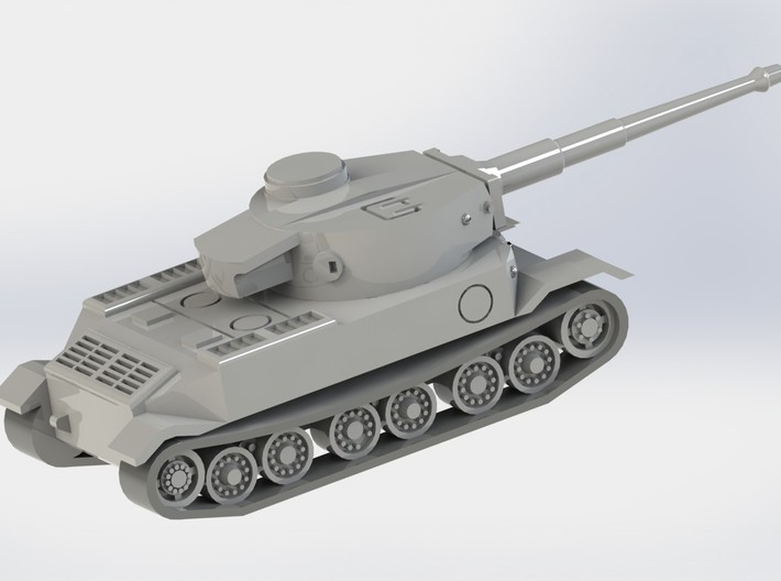 VK4501 Tiger Tank Set of 4 1/285 6mm 3d printed