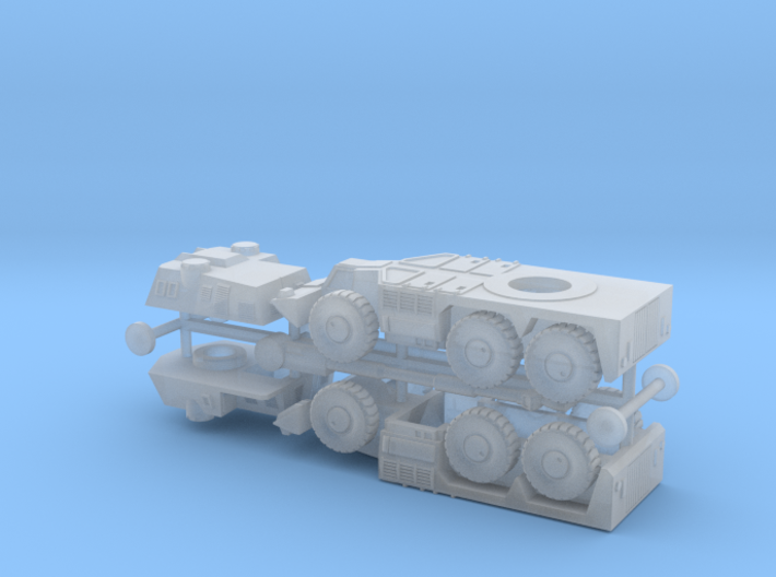 South African G6 Rhino 155mm SPG 1/285 6mm 3d printed