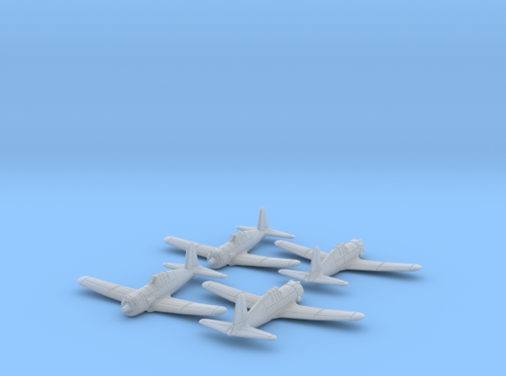 Vultee P-66 Vanguard 1/285 6mm Frosted Ultra x4 3d printed