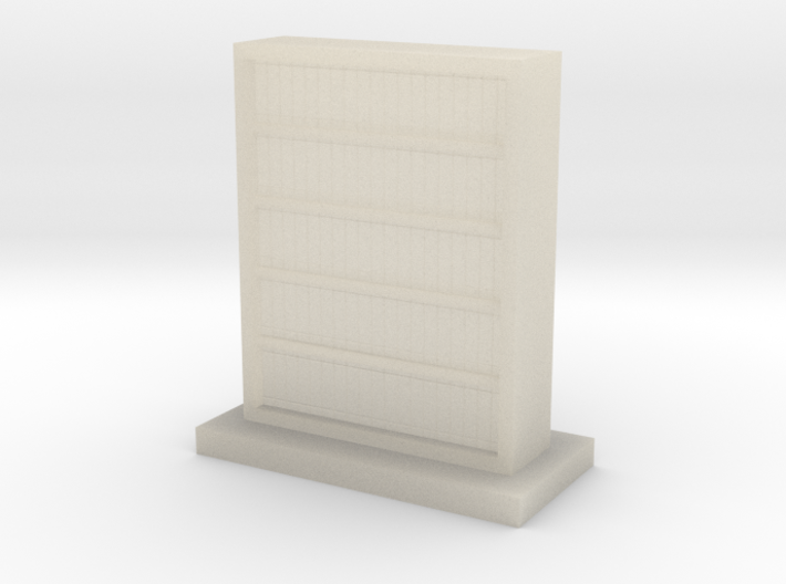 Filled Bookcase 3d printed