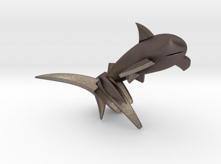 Key Chain - Jumping Shark 3d printed