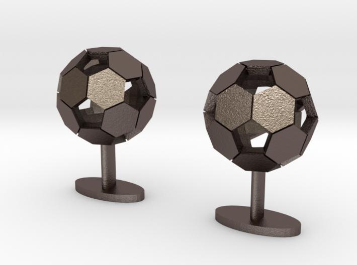Soccer Cufflinks 3d printed