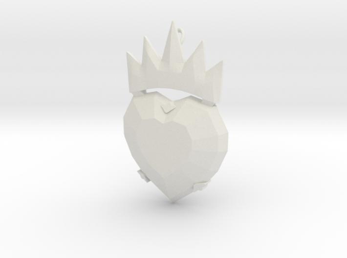 Disney Descendants Evie heart shaped pendant 3d printed