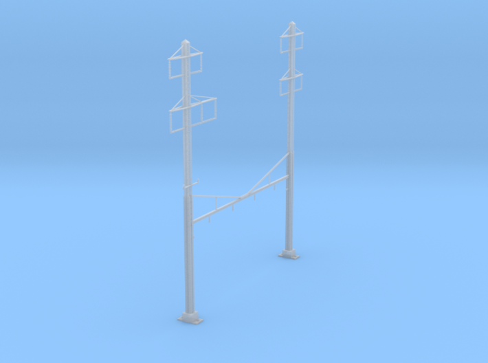 CATENARY PRR 4 TRACK 2-2 PHASE 3 PECO N SCALE 3d printed