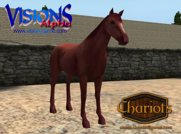 Horse Strawberry Roan 3d printed Strawberry Roan horse, or Red Roan