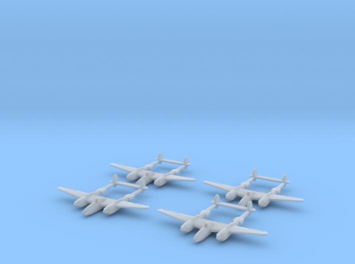 1/700 P-38 x4 (FUD) 3d printed