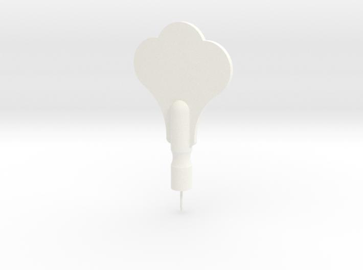 Tuning Peg Push Pin (real size) 3d printed
