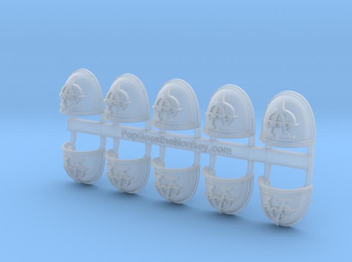 Hydra Legion - Gen2:Crusader Shoulder x10 3d printed