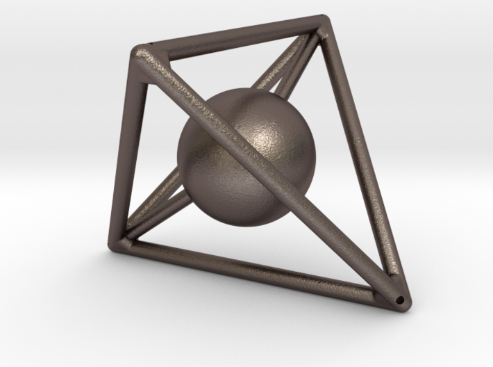 Light Tetra with Sphere inside 3d printed