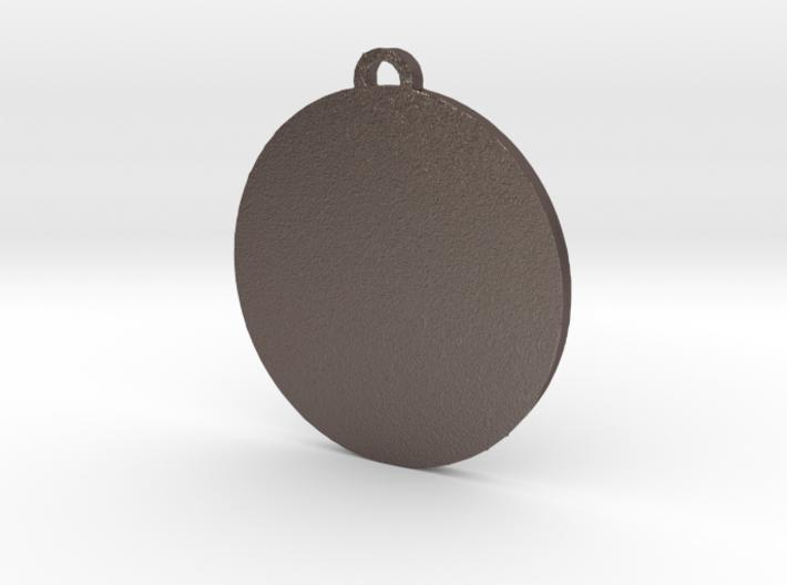 Pangea Pendant 3d printed