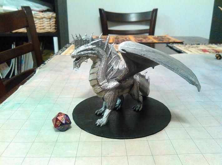 Silver Dragon 3d printed