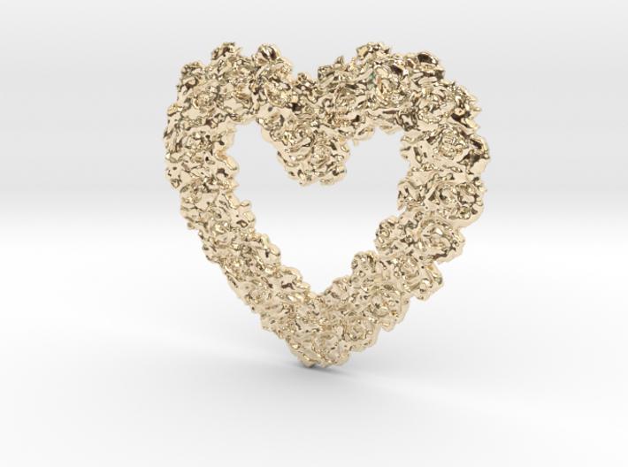 Rose Heart Pendant 3d printed